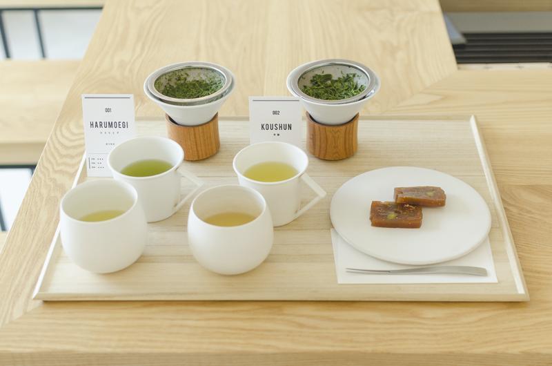 煎茶2種飲み比べ+お茶菓子セット