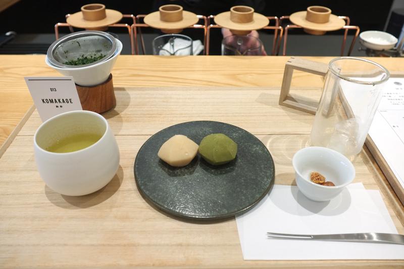 煎茶とお茶菓子